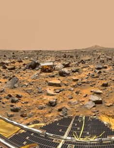 A panoramic view of Pathfinder's Ares Vallis landing site, reveals traces of this warmer, wetter past, showing a floodplain covered with a variety of rock types, boulders, rounded and semi-rounded cobbles and pebbles. Nasa Pictures, Nasa Photos, Nasa Images, Cosmos, Sistema Solar, Mars Planet, Red Planet, Mars Surface, Image Of The Day