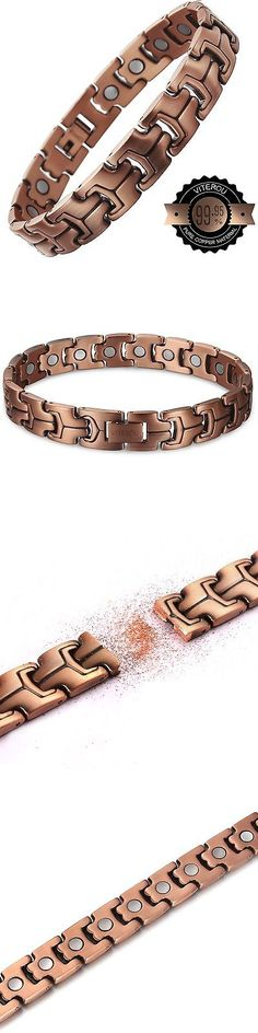 Magnetic Therapy Devices: Viterou Mens Magnetic Pure Copper Bracelet With High Power Magnets For Pain R... -> BUY IT NOW ONLY: $44.52 on eBay!