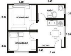 Tiny house floor plan 26m²