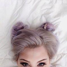 vibrant locks // hair // colour // hair dye // bright // aesthetic // grunge // pastel // silver // purple
