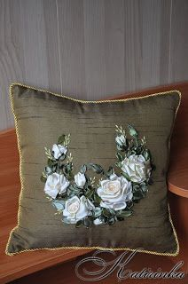 Types Of Embroidery, Silk Ribbon Embroidery, Smocking, Pillow Covers, Tapestry, Throw Pillows, Sewing, Pattern, Handmade
