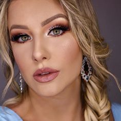Tageshochzeits Make-up 2018 Glam Makeup, Makeup Inspo, Eye Makeup, Hair Makeup, Wedding Day Makeup, Wedding Make Up, Bridal Makeup, Party Makeup Looks, Makeup Pictorial
