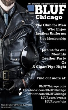 GM-Monthly10 15 – FLAT R Get geared up & join us every third Saturday from 10pm-12am. #Bootblacks on duty @ToucheChicago   #BLUF #leathermen #leathercommunity #bootblacks #leatheruniform #events #Leather #Fetish #Uniform #Boots #Cigars #Men #gloves #bdsm #hot #mascuine #cuero #uniforme #fetiche #pelle #uniforme #leder #blufclub #blufchicago #chicago