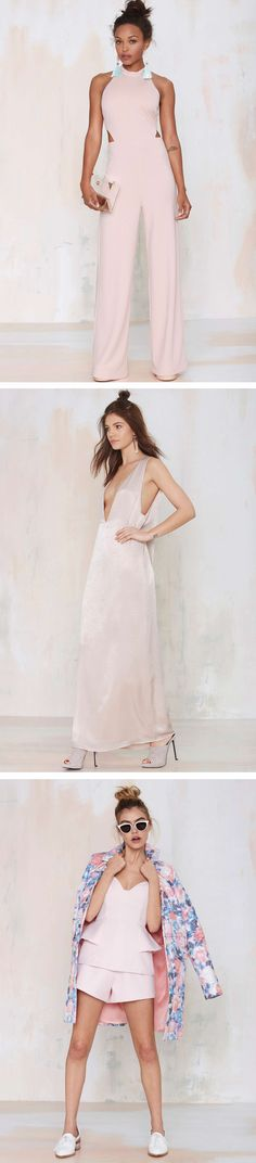 Pale Pink Perfection ~ Love the first one Beauty And Fashion, I Love Fashion, Passion For Fashion, High Fashion, Womens Fashion, Mode Inspiration, Glamour, Pale Pink, Short