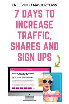 Increasing traffic to your blog can feel almost impossible sometimes.  With the same advice given over and over and over...it's easy to hit that small business wall.  In this 7 day Masterclass, I'm going to walk you through my exact steps to getting your traffic to the next level!