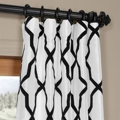 Lowe's Home Improvement Curtains With Blinds, Blackout Curtains, Panel Curtains, Window Treatments Living Room, Living Room Windows, Faux Silk Curtains, Curtain Room, Curtain Length