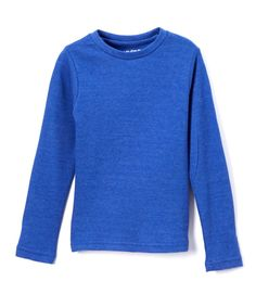 Heather Blue Crewneck Tee - Girls