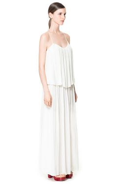 STRAPPY DRAPED DRESS WITH FRILL - Maxi - Dresses - Woman - ZARA United States