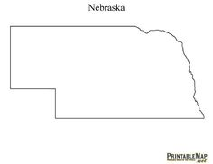 Printable Map of Nebraska