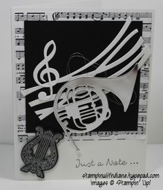 Musical Season Stampin Up Come like my facebook page https://www.facebook.com/pages/Stampin-with-Diane/249204018555071