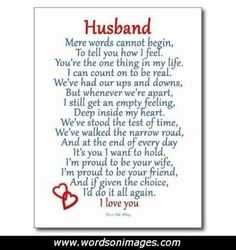 Image Result For Romantic Handmade Birthday Cards Husband Anniversary Poems Wedding Love