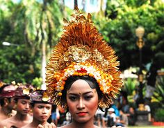 Stunning headgear from one of the tribes in Indonesia.