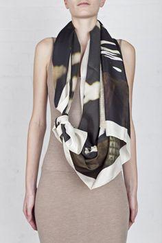 2-E polaroid scarf - Philippe Roucou | Reborn.ws