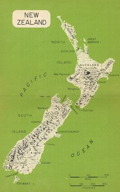 vintage New Zealand map via www.typetoy.tumblr.com Products I love - Re-pinned by VintageTravel.co.nz