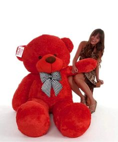 Product color and look might vary due to photographic lighting sources and editing Non-toxic and soft fabric Huggable and loveable for someone special Soft and cuddly filling Washable teddy Valentine Special, India Fashion, Soft Fabrics, Teddy Bear, Bows, Red, Animals, Indian Fashion, Arches