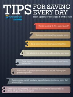 Tips for Saving Every Day from Upromise Facebook and Twitter Fans