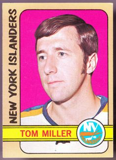 NEW YORK ISLANDERS 1972-73 TOPPS TOM MILLER EX+ CONDITION FREE SHIPPING #NewYorkIslanders
