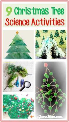 Christmas Tree Science Activities for Kids and Family, great science project ideas for the holiday season