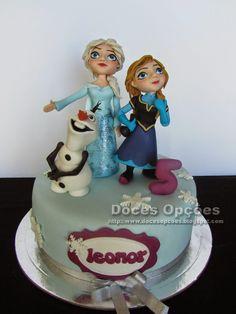 Doces Opções: A Elsa, a Anna e o Olaf no 5º aniversário da Leono...