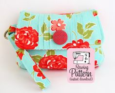 Pintuck Wristlet Bag - PDF Sewing Pattern by Michelle Pattern + Pintucking Using a Serger with Angela Wolf