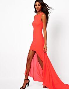 72,90 talla 40 Eur de Vestido largo con bajo asimétrico de ASOS
