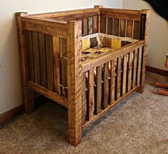 20 Latest Trend of Cute Baby Boy Room Ideas - Home Decor Ideas Rustic Baby Cribs, Rustic Baby Bedding, Wooden Baby Crib, Rustic Crib, Baby Crib Diy, Wooden Cribs, Baby Crib Bedding, Rustic Nursery, Baby Furniture