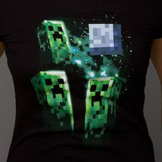 J!NX : Minecraft Three Creeper Moon Women's Tee - Clothing Inspired by Video Games & Geek Culture