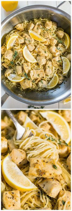 Honey Lemon Chicken with Angel Hair Pasta