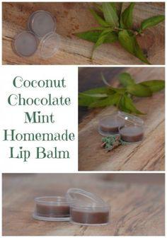 Coconut Chocolate Mint Homemade Lip Balm -