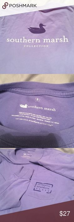 Southern Marsh Long Sleeve Tee Southern Marsh- authentic southern class pocket (frocket) tee. long sleeves & very comfortable! Gently loved, washed sparingly to preserve the color. it is a very pretty lavender! No imperfections or flaws, great condition. You can tell how it's been taken care of by the fact that the tag area is still completely legible. Thank you for looking ❤ Southern Marsh Tops Tees - Long Sleeve