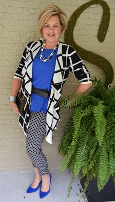 Fashion for women over 40. Pattern Mixing