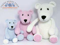 Baby Bear, Little Bear & Mama Bear Amigurumi - Free English Pattern