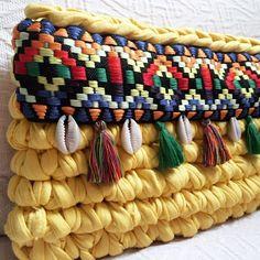 Amarillo bohochic  #MacadamiaRepublic #trapillo #crochet #handmade #hechoamano