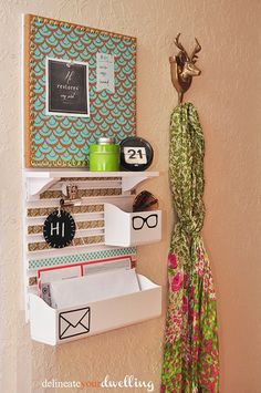 Message Center - get organized with your Silhouette #Mail #Vinyl #CommandCenter