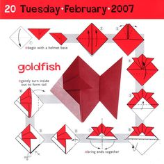 Origami Fish!! Now you can make your own waterless aquarium. :) These are so so cute and easy. You can get carried away making them. Happy Folding!! *This is for you Ellie!*