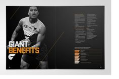Principals GWS Giants Brand Identity- brochure layout