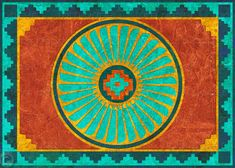 Native American FEATHER MEDALLION  Southwest by tornpaperco