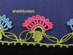 crochetedg, crochet border, flower