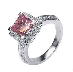 pink diamond wedding rings - Pink Diamond Wedding Rings