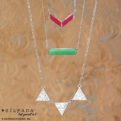 Add some geometric luster with these dainty dazzlers! | #necklace #WomensFashion