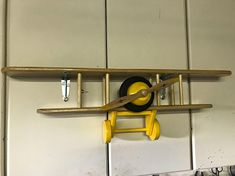 Unique Vintage Bi-Plane Shelf perfect for any boys room. Individually Numbered Limited Edition complete with mounting brackets. Available in red or blue with contrasting color highlights. Top Shelf Dimensions: Length: 38 Depth: 6 Bottom Shelf Dimensions: Length: 30 Depth: 6