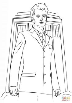 Extent 10 Doctor Who Coloring Pages Panda