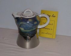 Van Gogh Starry Night Espresso Maker . $74.99. Stainless steel. 4 cup. Espresso Maker. Porcelain. Van Gogh Starry Night Espresso Maker 4 cup