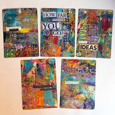 From the Balzer Designs Blog: Blogiversary Tutorial Redo: Colorful Garbage ATCs