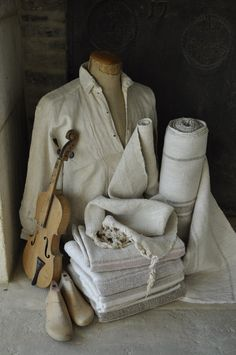 Interiors shot of Beyond France Hungarian linens Linen Store, Grain Sack, Textile Design, Textiles, France, Linens, Colours, Interiors, Fabric