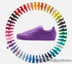 Men's And Women's SUPERSTAR SUPERCOLOR Shoes Purple|only US$88.00 - follow me to pick up couopons. Adidas Superstar, Superstar Supercolor, Cheap Adidas Shoes, Cheap Shoes, Nike Shoes, Women's Shoes, Shoes Sneakers, Adidas Originals, The Originals