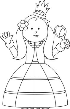 Princeznička na bále ... * Prinsje en prinsesje - Google zoeken * princezná Coloring For Kids, Coloring Pages For Kids, Coloring Books, Drawing For Kids, Art For Kids, Chateau Moyen Age, Castle Coloring Page, Fairy Tale Crafts, Royal Tea Parties