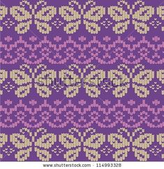 Ornamental pattern for knitting and embroidery by Panteleeva Olga, via Shutterstock
