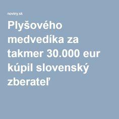 Plyšového medvedíka za takmer 30.000 eur kúpil slovenský zberateľ