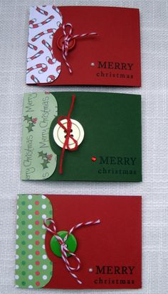 Handmade Christmas Gift Card Holders  Set of 3  by foryoumarilyn, #Greeting Cards